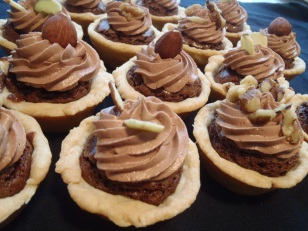 fudge brownie tartlets