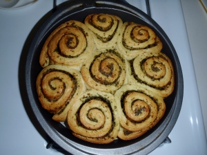 Pesto Swirl Bread Rolls