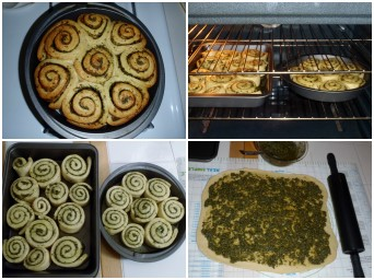Pesto Swirl Bread Roll