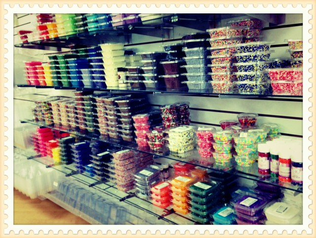SPRINKLES!!!  SO MANY COLORS AND SIZES!  IN LOVE!!!